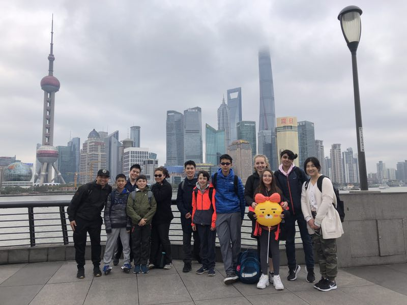 students on Chinese exchange trip